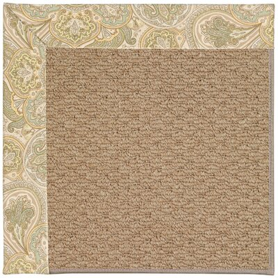 Zoe Machine Tufted Beige/Brown Indoor/Outdoor Area Rug Rug Size: Round 12 x 12