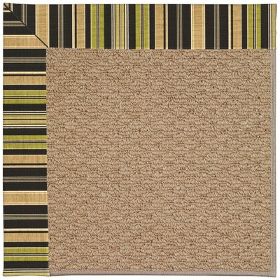 Zoe Machine Tufted Charcoal Indoor/Outdoor Area Rug Rug Size: Square 10