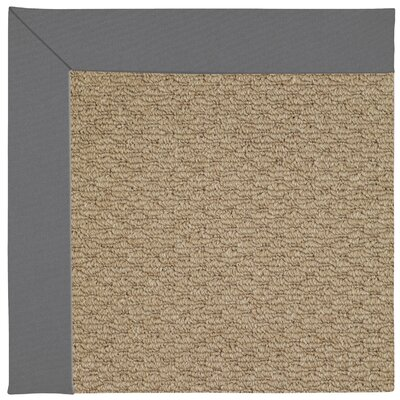 Zoe Machine Tufted Ash/Brown Indoor/Outdoor Area Rug Rug Size: Square 8'