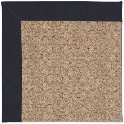 Zoe Grassy Mountain Machine Tufted Dark Navy/Brown Indoor/Outdoor Area Rug Rug Size: Round 12 x 12