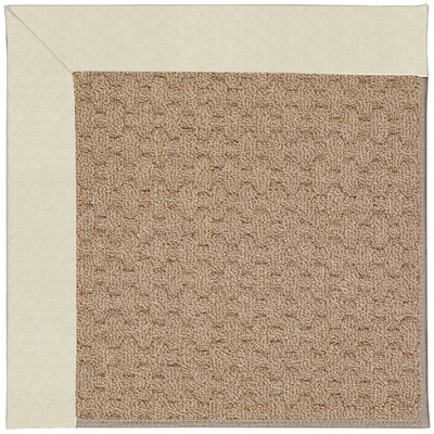 Zoe Grassy Mountain Machine Tufted Cream/Brown Indoor/Outdoor Area Rug Rug Size: Round 12 x 12