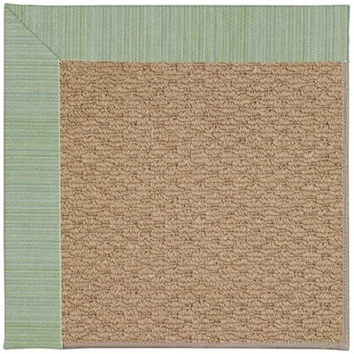 Zoe Machine Woven Green/Brown Indoor/Outdoor Area Rug Rug Size: Square 10