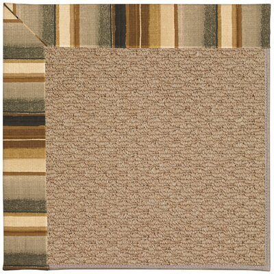 Zoe Machine Tufted Cinders/Brown Indoor/Outdoor Area Rug Rug Size: Round 12 x 12
