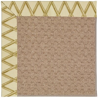 Zoe Grassy Mountain Machine Tufted Bamboo Rayon and Beige Indoor/Outdoor Area Rug Rug Size: Round 12 x 12