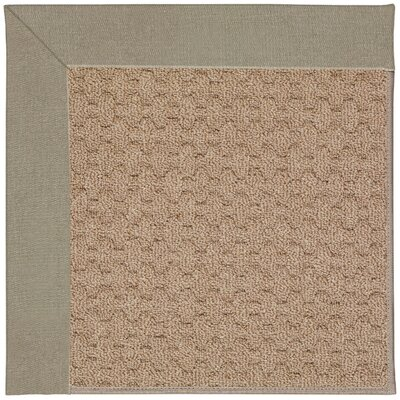 Zoe Grassy Mountain Machine Tufted Buff/Brown Indoor/Outdoor Area Rug Rug Size: Square 4