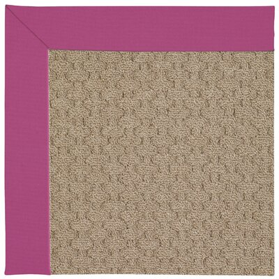 Zoe Machine Tufted Fuchsia Area Rug Rug Size: Square 10