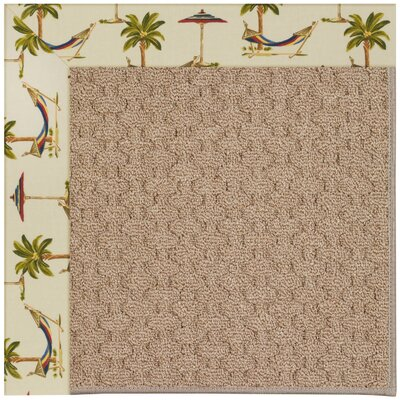 Zoe Grassy Mountain Machine Tufted Beige Indoor/Outdoor Area Rug Rug Size: Round 12 x 12