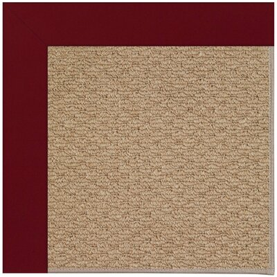 Lisle Machine Tufted Red/Brown Indoor/Outdoor Area Rug Rug Size: Square 10'