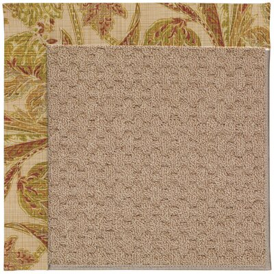 Zoe Grassy Mountain Machine Tufted Tan/Brown Indoor/Outdoor Area Rug Rug Size: Round 12 x 12
