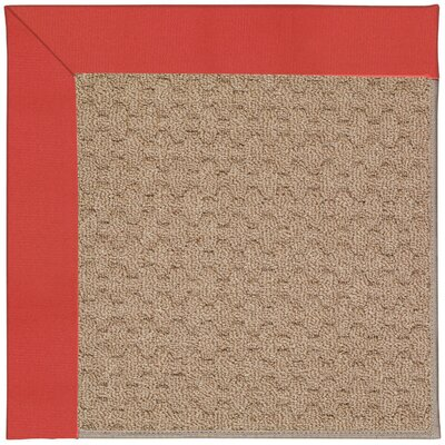 Zoe Grassy Mountain Machine Tufted Sunset Red Indoor/Outdoor Area Rug Rug Size: Square 4