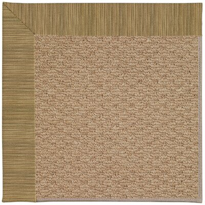Zoe Machine Tufted Green/Brown Indoor/Outdoor Area Rug Rug Size: 4 x 6