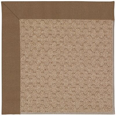 Zoe Grassy Mountain Machine Tufted Cafe/Brown Indoor/Outdoor Area Rug Rug Size: Round 12 x 12