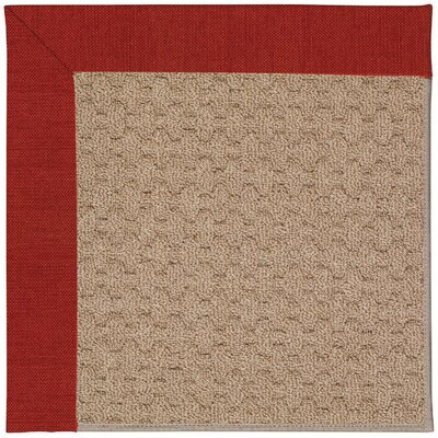 Zoe Grassy Mountain Machine Tufted Tomatoes/Brown Indoor/Outdoor Area Rug Rug Size: Square 6