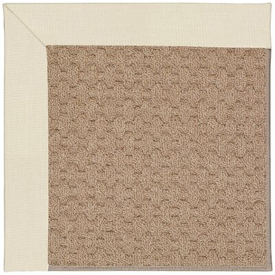 Zoe Machine Tufted Sandy/Brown Indoor/Outdoor Area Rug Rug Size: Square 8