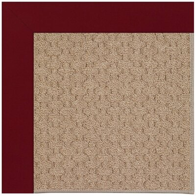 Zoe Grassy Mountain Machine Tufted Wine/Brown Indoor/Outdoor Area Rug Rug Size: Round 12 x 12