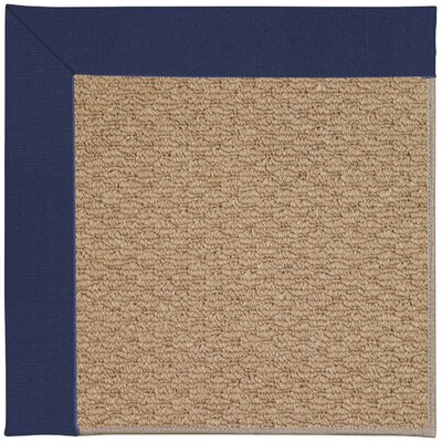 Zoe Machine Tufted Navy and Beige Indoor/Outdoor Area Rug Rug Size: Round 12 x 12