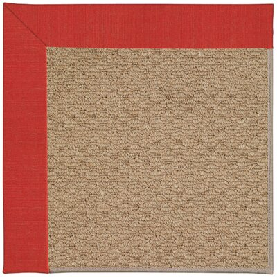 Zoe Machine Tufted Red Crimson Indoor/Outdoor Area Rug Rug Size: Round 12 x 12