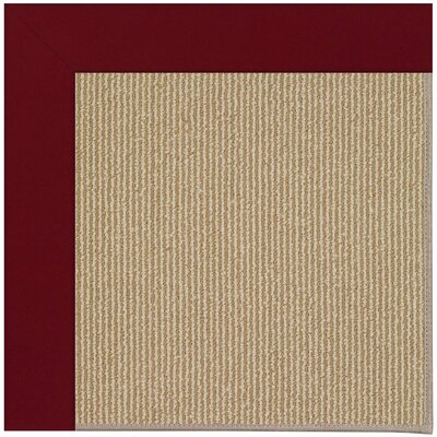 Zoe Machine Tufted Wine/Brown Indoor/Outdoor Area Rug Rug Size: Round 12 x 12