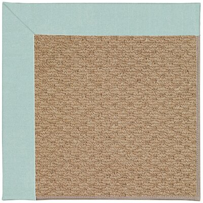 Zoe Machine Tufted Iceberg/Brown Indoor/Outdoor Area Rug Rug Size: Round 12 x 12