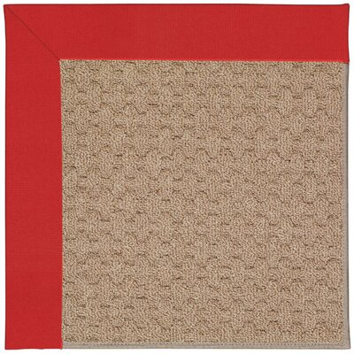 Zoe Grassy Mountain Machine Tufted Red/Brown Indoor/Outdoor Area Rug Rug Size: Round 12 x 12