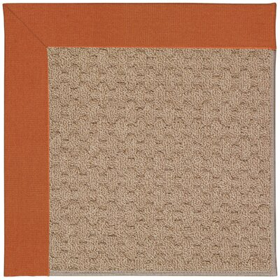 Zoe Machine Tufted Orange/Brown Indoor/Outdoor Area Rug Rug Size: Round 12 x 12