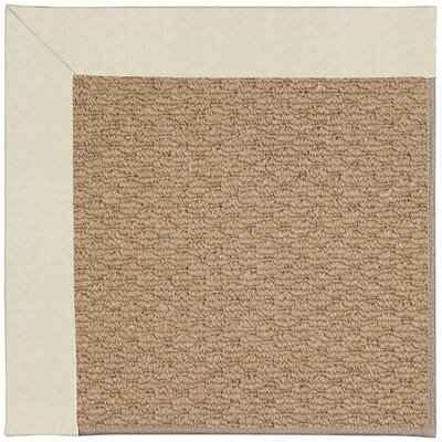 Zoe Machine Tufted Cream/Brown Indoor/Outdoor Area Rug Rug Size: Square 6