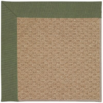 Zoe Machine Woven Green/Brown Indoor/Outdoor Area Rug Rug Size: Round 12 x 12