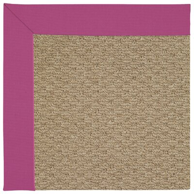 Zoe Machine Tufted Fuchsia/Brown Indoor/Outdoor Area Rug Rug Size: Round 12 x 12