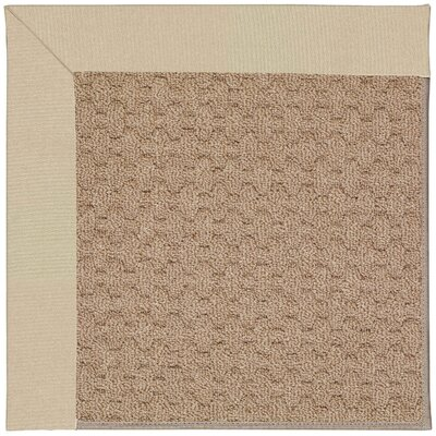 Zoe Machine Tufted Ecru/Brown Indoor/Outdoor Area Rug Rug Size: Square 4