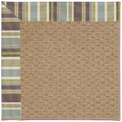 Zoe Machine Tufted Multi-colored/Brown Indoor/Outdoor Area Rug Rug Size: Square 10