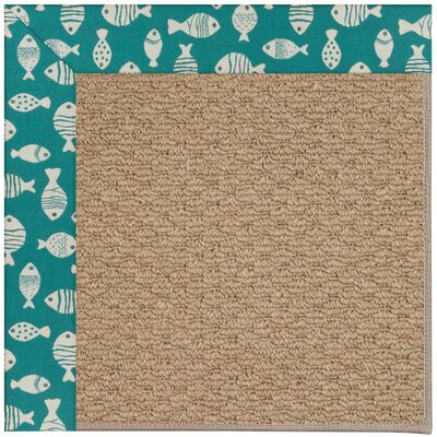 Zoe Green/Brown Indoor/Outdoor Area Rug Rug Size: 4 x 6