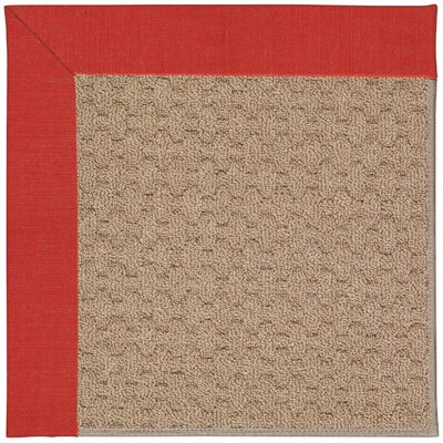Zoe Grassy Mountain Machine Tufted Red/Brown Indoor/Outdoor Area Rug Rug Size: 4 x 6
