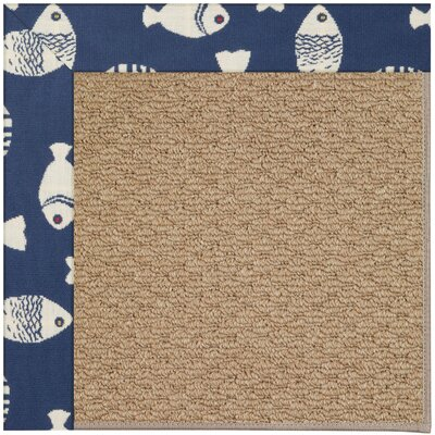 Zoe Machine Tufted Pitch and Beige Indoor/Outdoor Area Rug Rug Size: Square 8