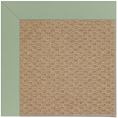 Zoe Machine Tufted Light Jade/Brown Indoor/Outdoor Area Rug Rug Size: Round 12 x 12