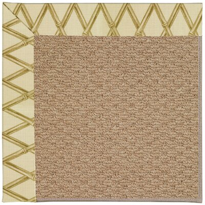 Zoe Machine Tufted Bamboo Indoor/Outdoor Area Rug Rug Size: Square 6