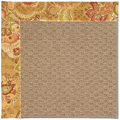 Zoe Machine Tufted Bronze Flowers/Brown Indoor/Outdoor Area Rug Rug Size: Square 6'