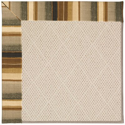 Zoe Cream Indoor/Outdoor Area Rug Rug Size: Square 6