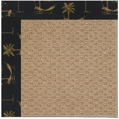 Zoe Machine Tufted Jet Black/Brown Indoor/Outdoor Area Rug Rug Size: Square 10