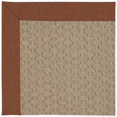 Zoe Grassy Mountain Machine Tufted Dried Chilis/Brown Indoor/Outdoor Area Rug Rug Size: Square 4