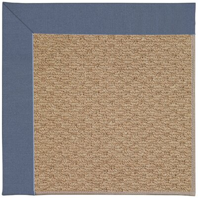 Zoe Machine Tufted Blue/Brown Indoor/Outdoor Area Rug Rug Size: Square 6