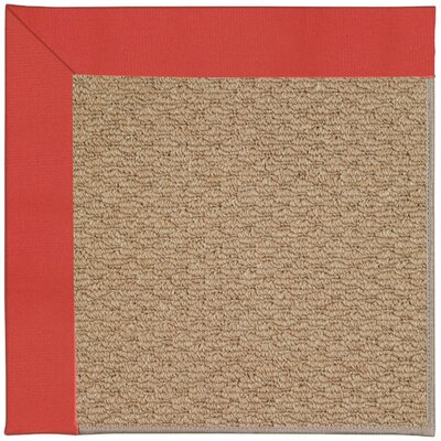 Zoe Machine Tufted Sunset Red/Brown Indoor/Outdoor Area Rug Rug Size: Square 4
