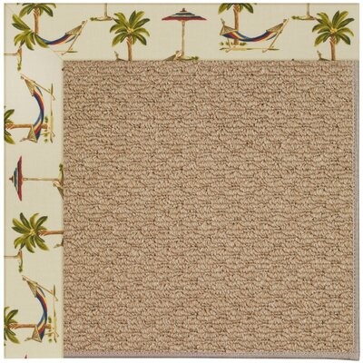 Zoe Machine Tufted Beige/Brown Indoor/Outdoor Area Rug Rug Size: Square 10'