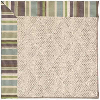 Zoe Brown Indoor/Outdoor Area Rug Rug Size: Square 10'