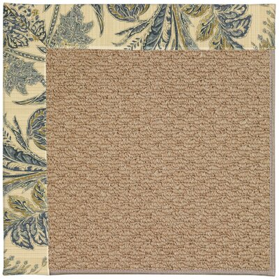 Zoe Machine Tufted High Seas/Brown Indoor/Outdoor Area Rug Rug Size: Square 8
