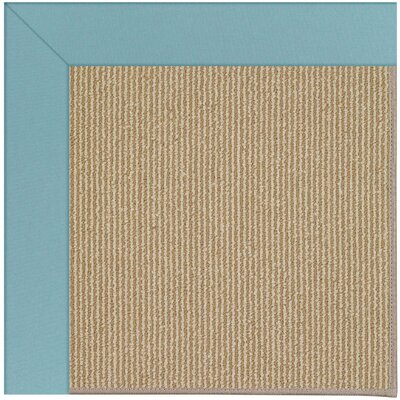 Zoe Machine Tufted Bright Blue/Brown Indoor/Outdoor Area Rug Rug Size: Round 12' x 12'
