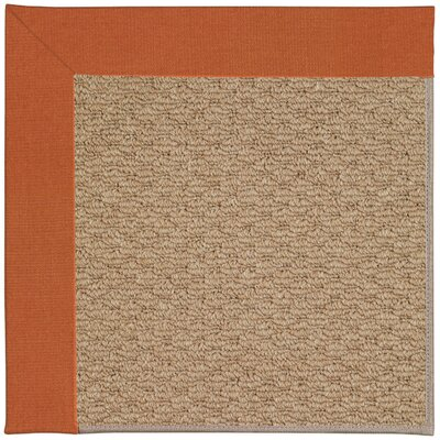 Zoe Machine Tufted Russett/Brown Indoor/Outdoor Area Rug Rug Size: 7 x 9