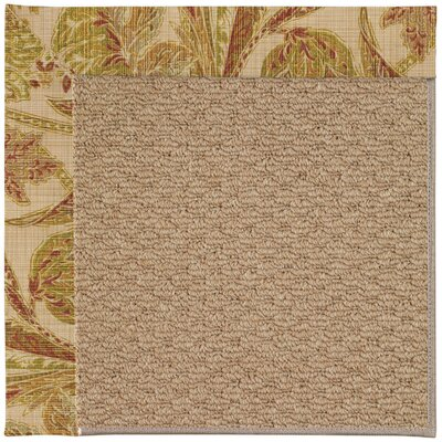 Zoe Machine Tufted Tan/Brown Indoor/Outdoor Area Rug Rug Size: Square 4