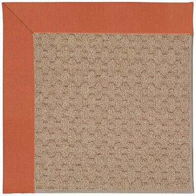 Zoe Grassy Mountain Machine Tufted Clay/Brown Indoor/Outdoor Area Rug Rug Size: Square 6