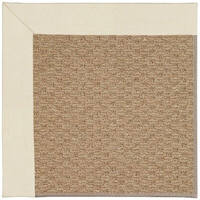 Zoe Machine Tufted Sandy/Brown Indoor/Outdoor Area Rug Rug Size: Square 10
