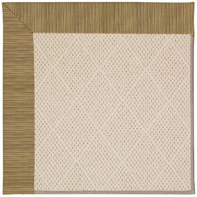 Zoe Light Brown Indoor/Outdoor Area Rug Rug Size: Square 12
